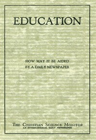 Education: how it may be aided by a daily newspaper