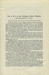 The abc of the Christian Science religion