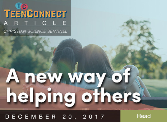 A new way of helping others
