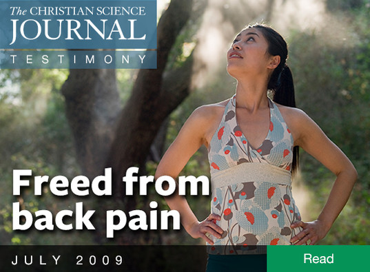 Freed from back pain