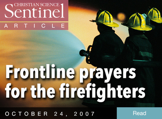 Frontline prayers for the firefighters