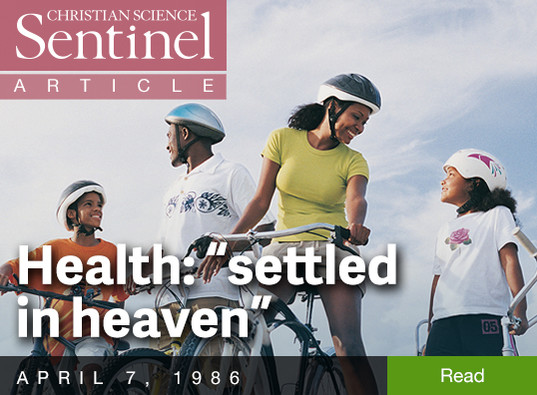 "Health: ""settled in heaven"""