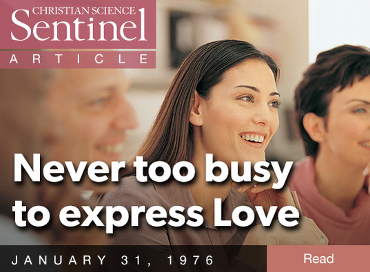 Never Too Busy to Express Love