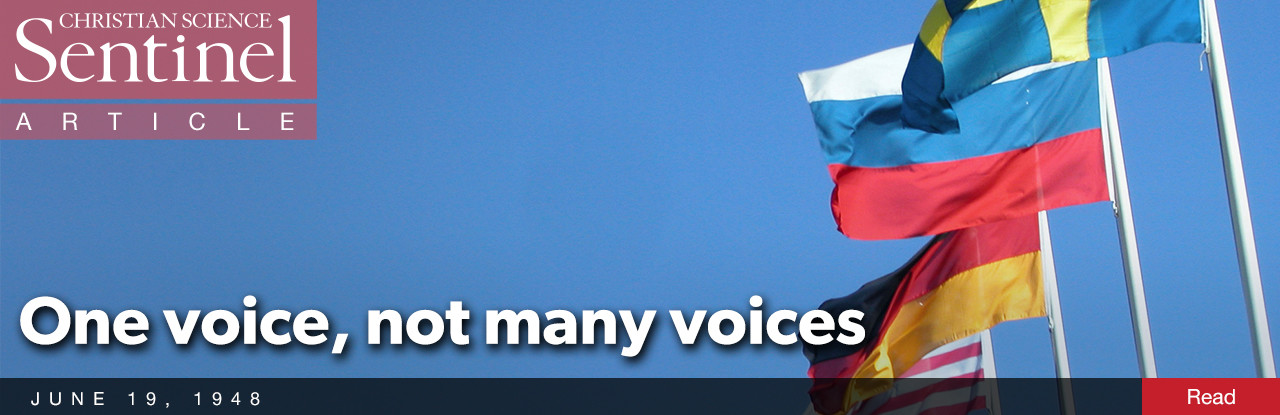 One voice, not many voices