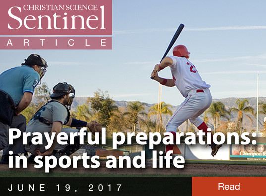 Prayerful preparations: in sports and life