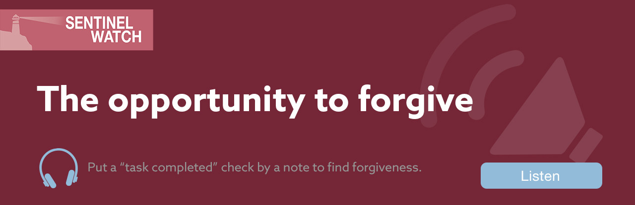 The opportunity to forgive