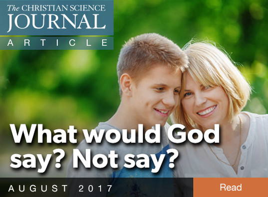 What would God say? Not say?