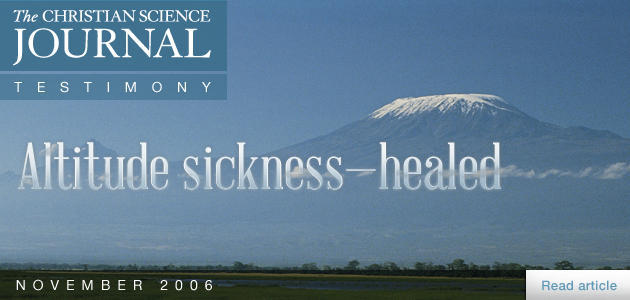 Altitude sickness—healed