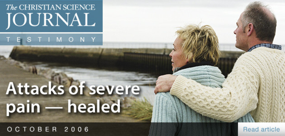 Attacks of severe pain—healed
