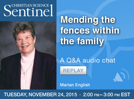 Chat replay: Mending fences within the family