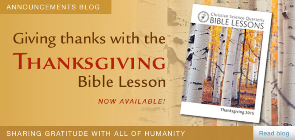 Giving thanks with the Thanksgiving Bible Lesson