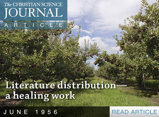 Literature distribution—a healing work