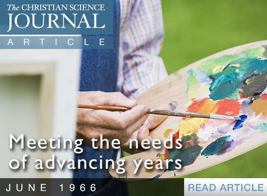 Meeting the needs of advancing years