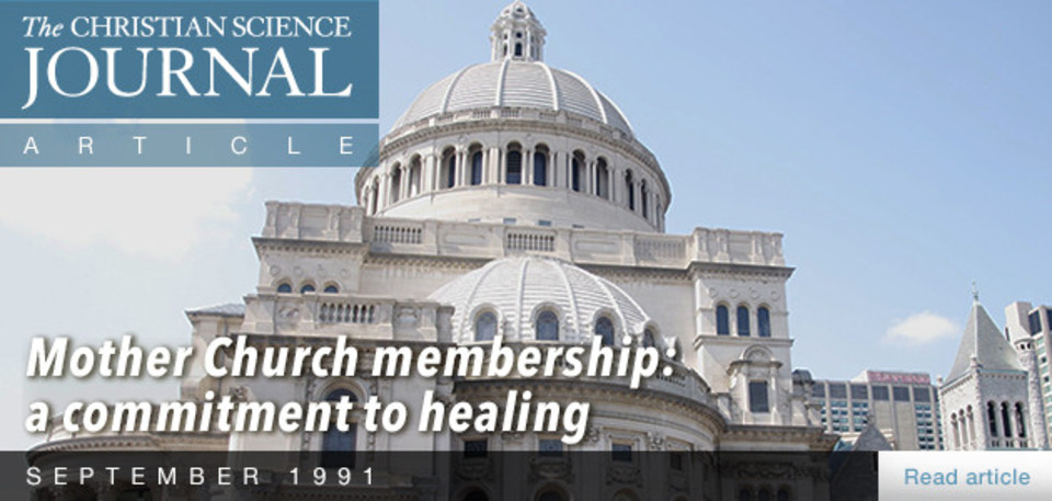 Mother Church membership: a commitment to healing