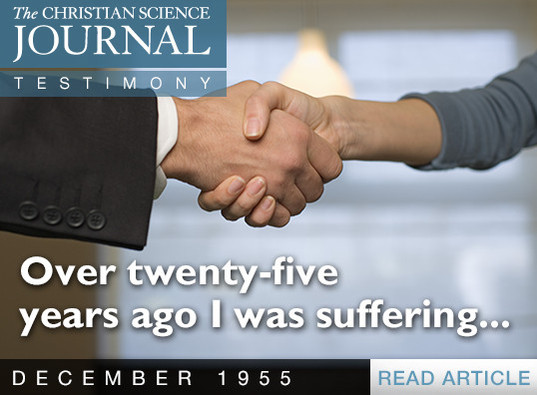 Over twenty-five years ago I was suffering...