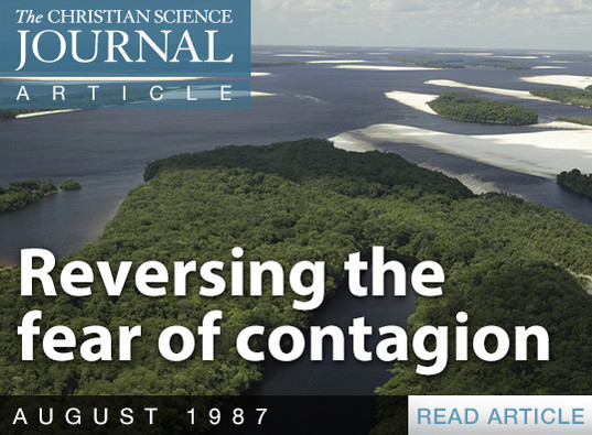 Reversing the fear of contagion