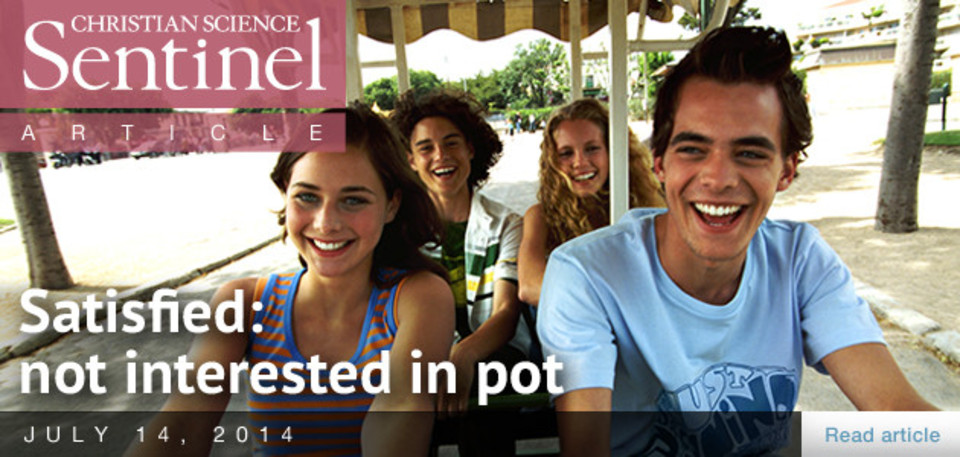 Satisfied: not interested in pot
