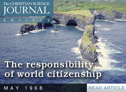 The responsibility of world citizenship