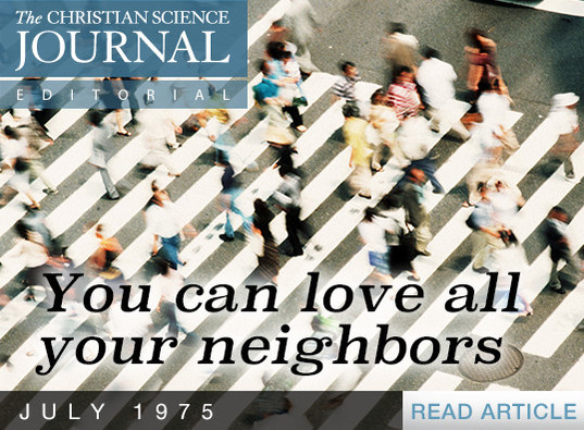 You can love all your neighbors